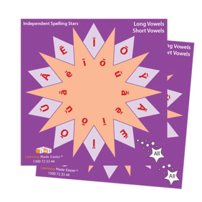 vowel spinners class set