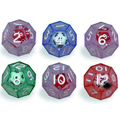 Double Polyhedra Dice 12 sided
