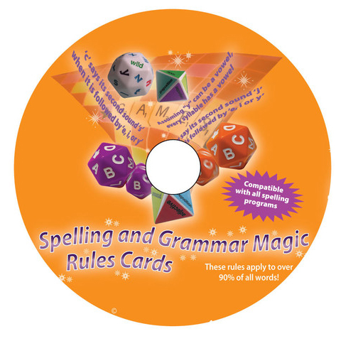 spelling and grammar cd of cards