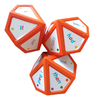 independent spelling stars 14cm dice with stickers